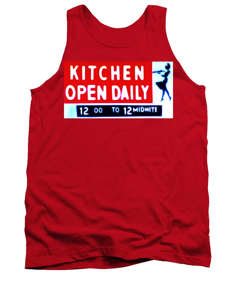 Kitchen Tank Top featuring the photograph Kitchen Open Daily by Bill Cannon