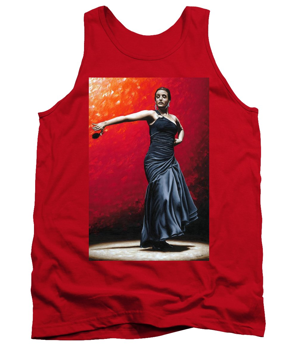 Noble Tank Top featuring the painting La Nobleza Del Flamenco by Richard Young