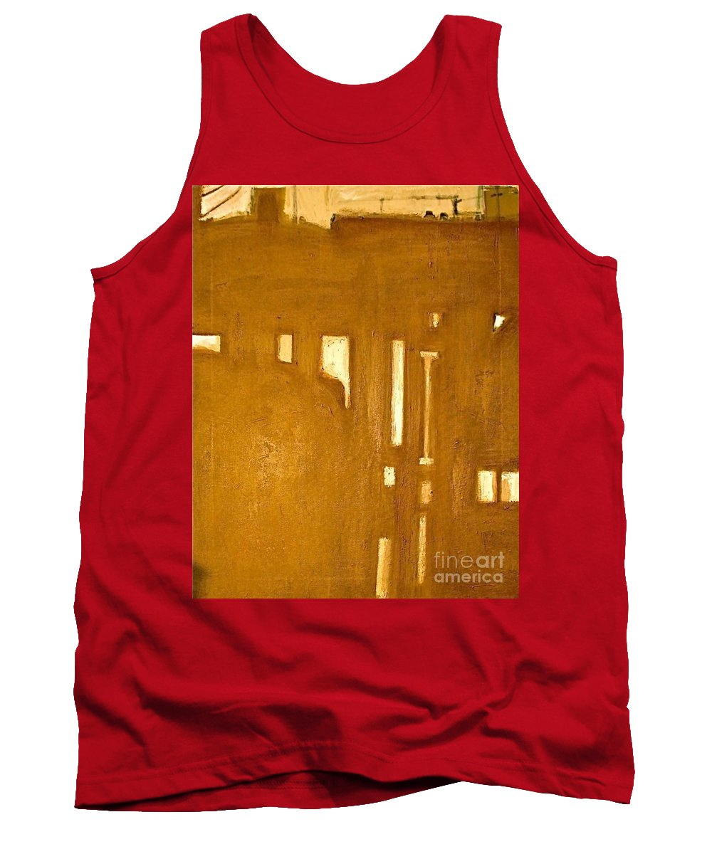 Architecture Tank Top featuring the painting Le Berceau D Industrie The Cradle Of Industry by Contemporary Luxury Fine Art