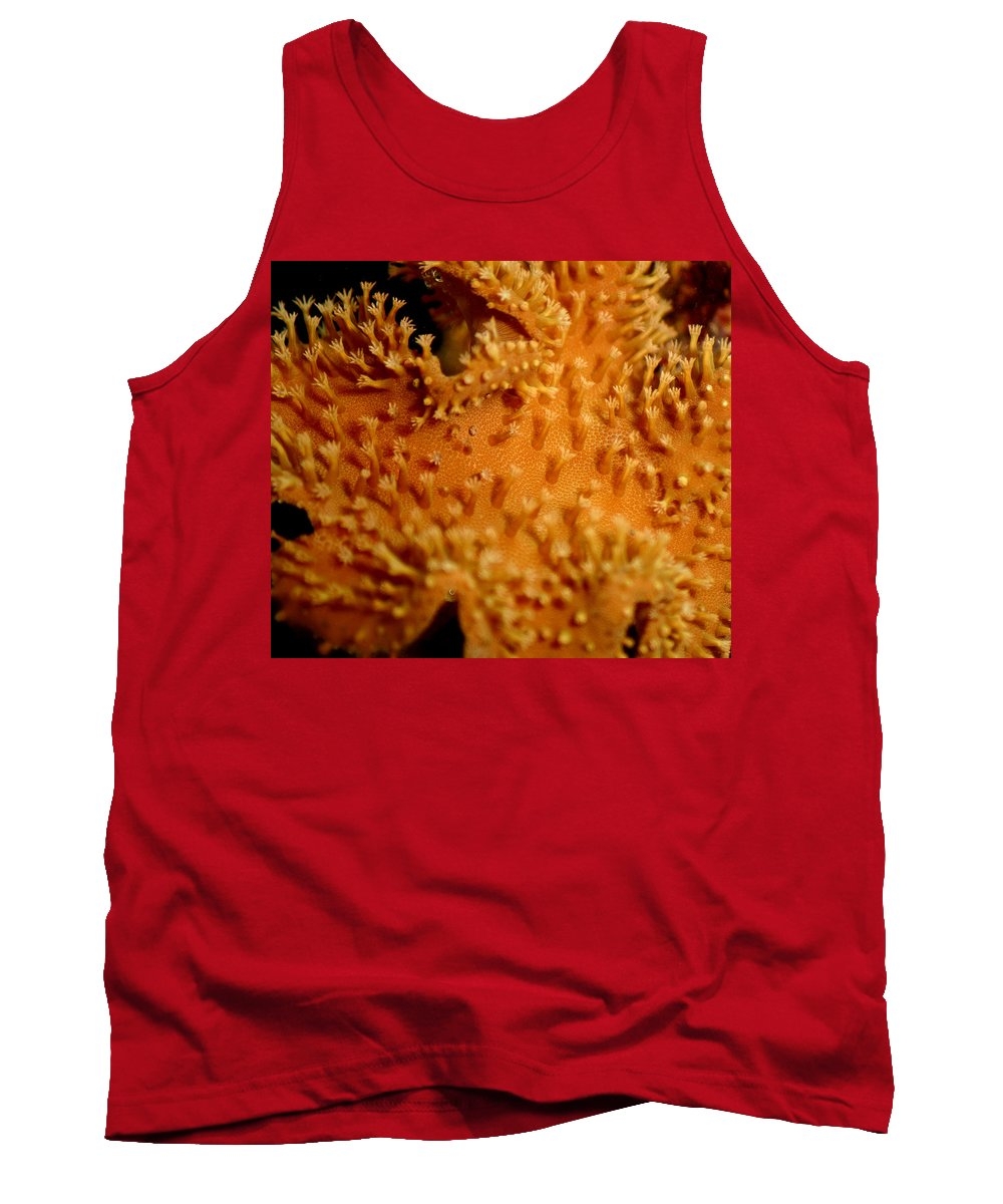 Underwater Tank Top featuring the photograph Leather Coral by Anthony Jones