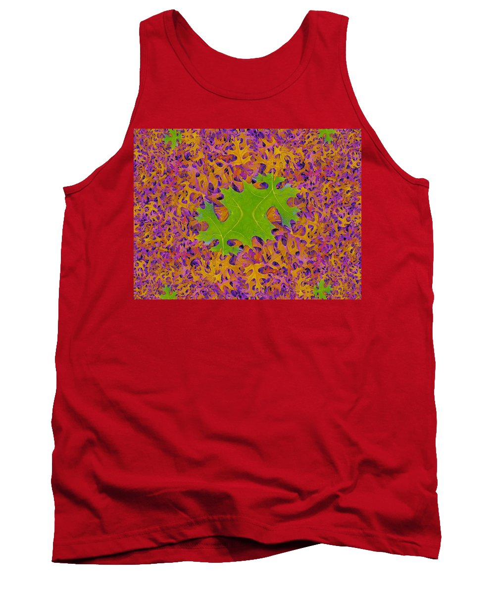 Leaves Tank Top featuring the photograph Leaves In Fractal 2 by Tim Allen
