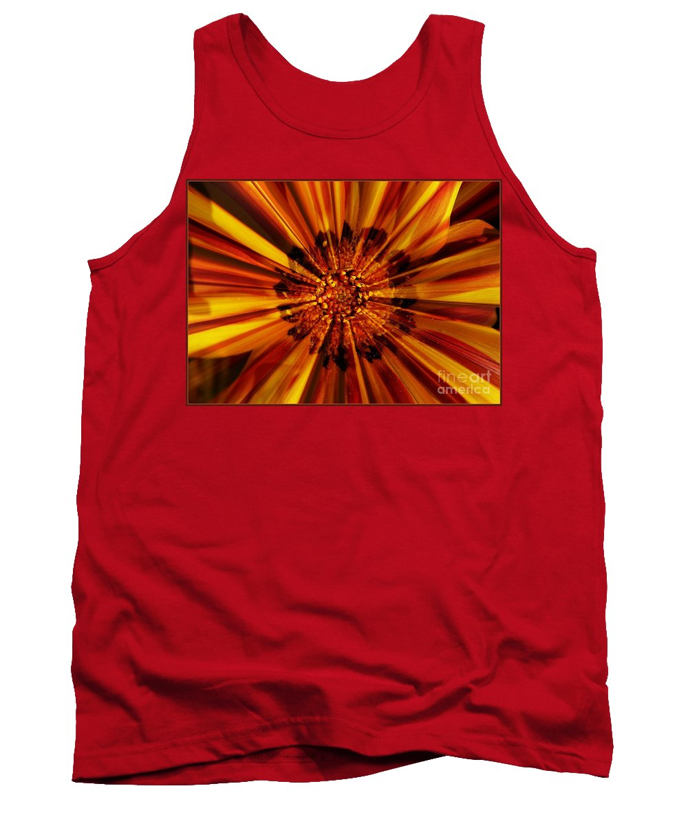 Nature Abstract Tank Top featuring the photograph Let Your Light Shine by Carol Groenen