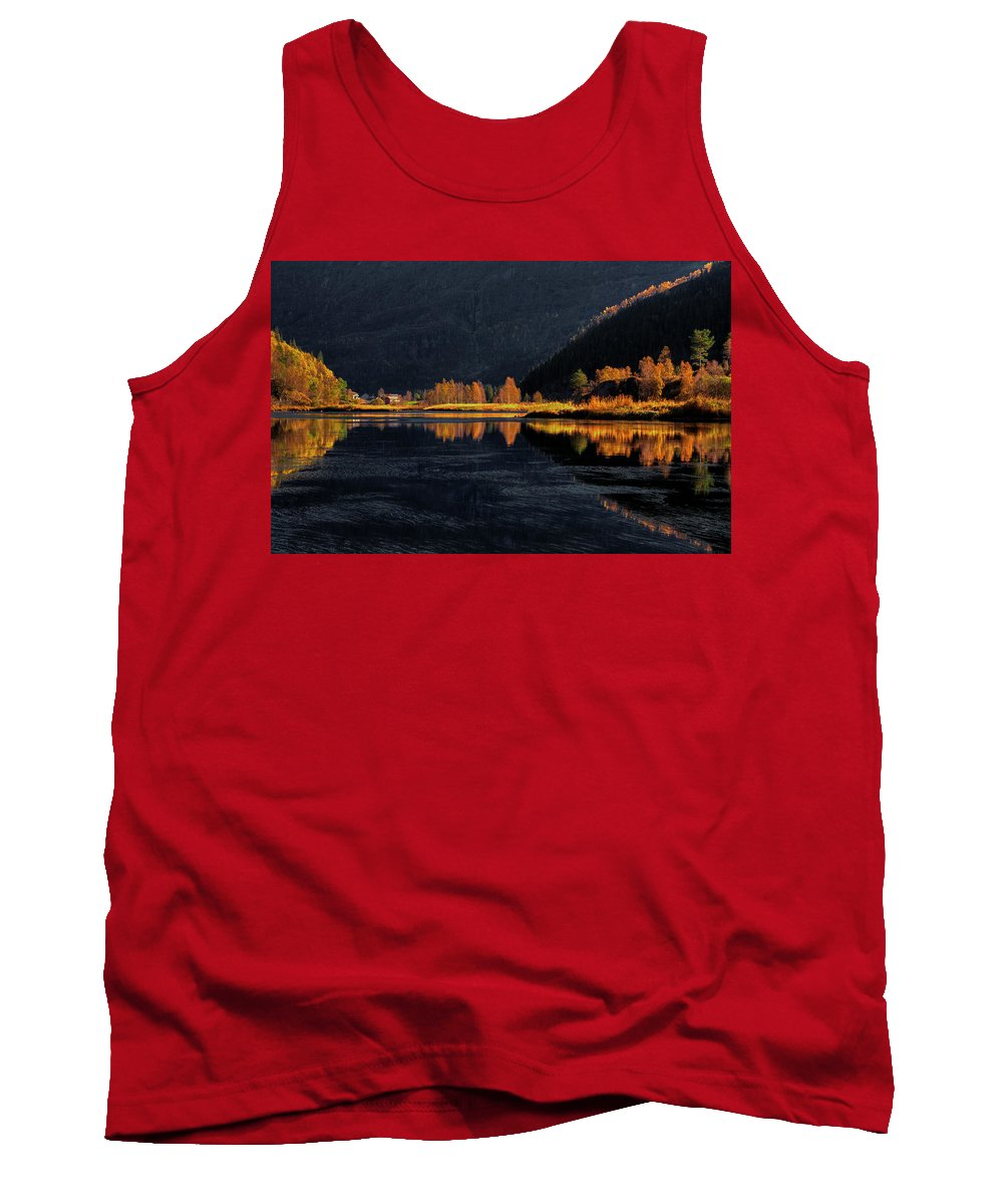 Fall Tank Top featuring the photograph Light And Shadows by Rune Askeland