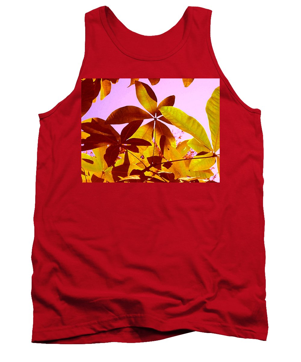 Garden Tank Top featuring the painting Light Coming Through Tree Leaves 1 by Amy Vangsgard