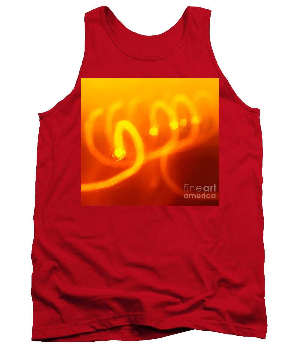 Abstract Tank Top featuring the photograph Light Trail Abstract by Gaspar Avila