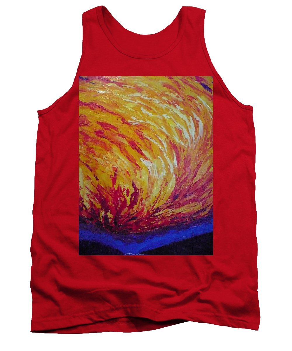 Fire Tank Top featuring the painting Lighting A Match by Ericka Herazo