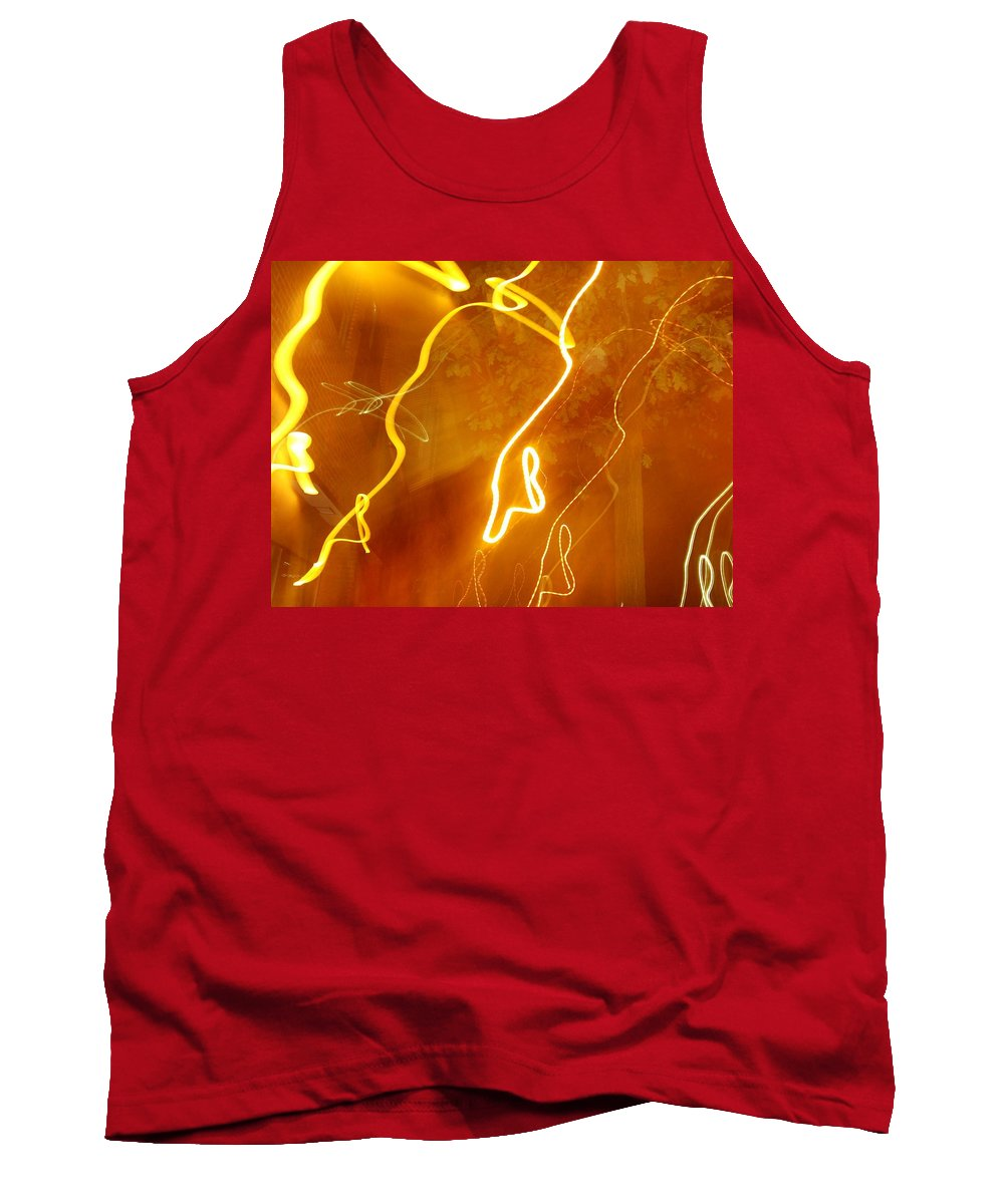 Photograph Tank Top featuring the photograph Lights That Eat Trees by Thomas Valentine