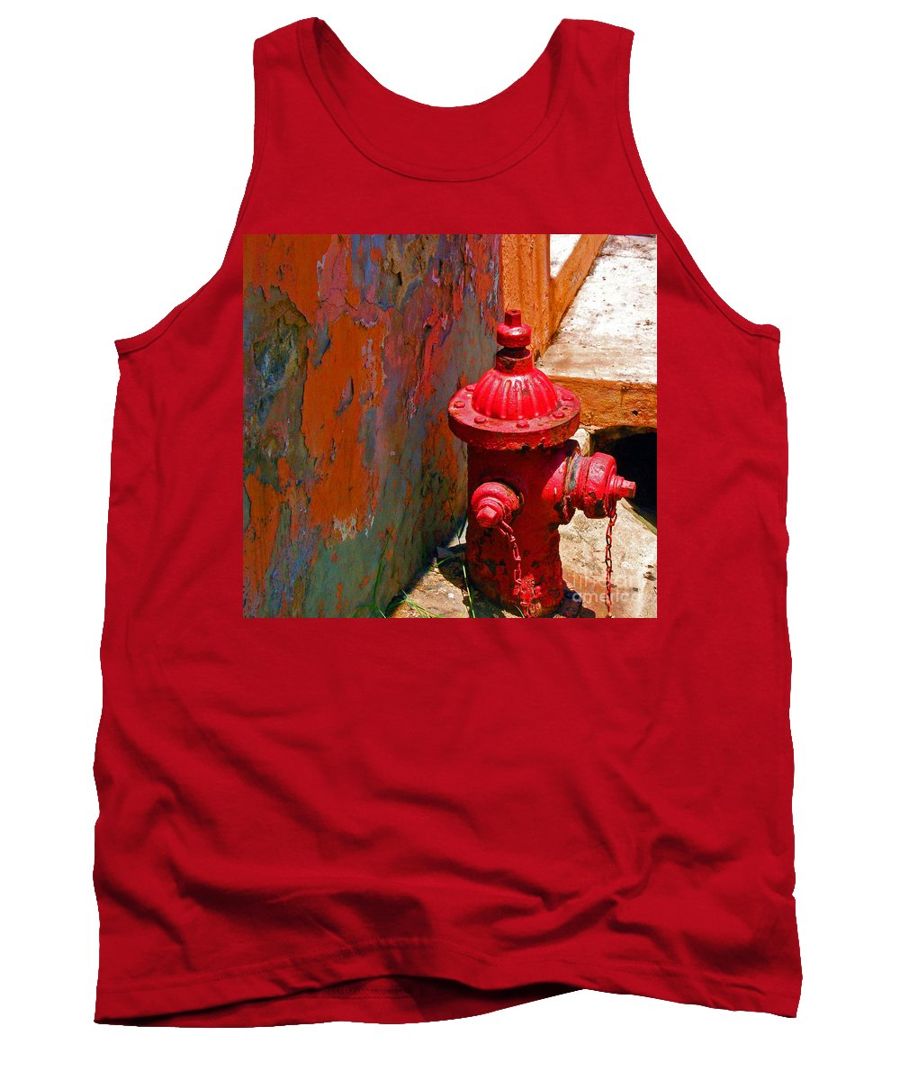 Red Tank Top featuring the photograph Lil Red by Debbi Granruth