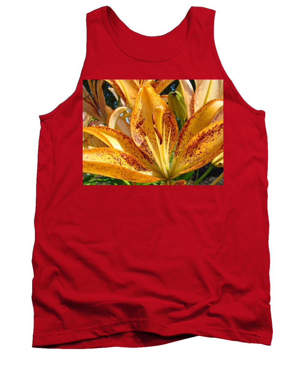 Lilies Tank Top featuring the photograph Lilies Art Prints Orange Lily Flowers 2 Gilcee Prints Baslee Troutman by Baslee Troutman