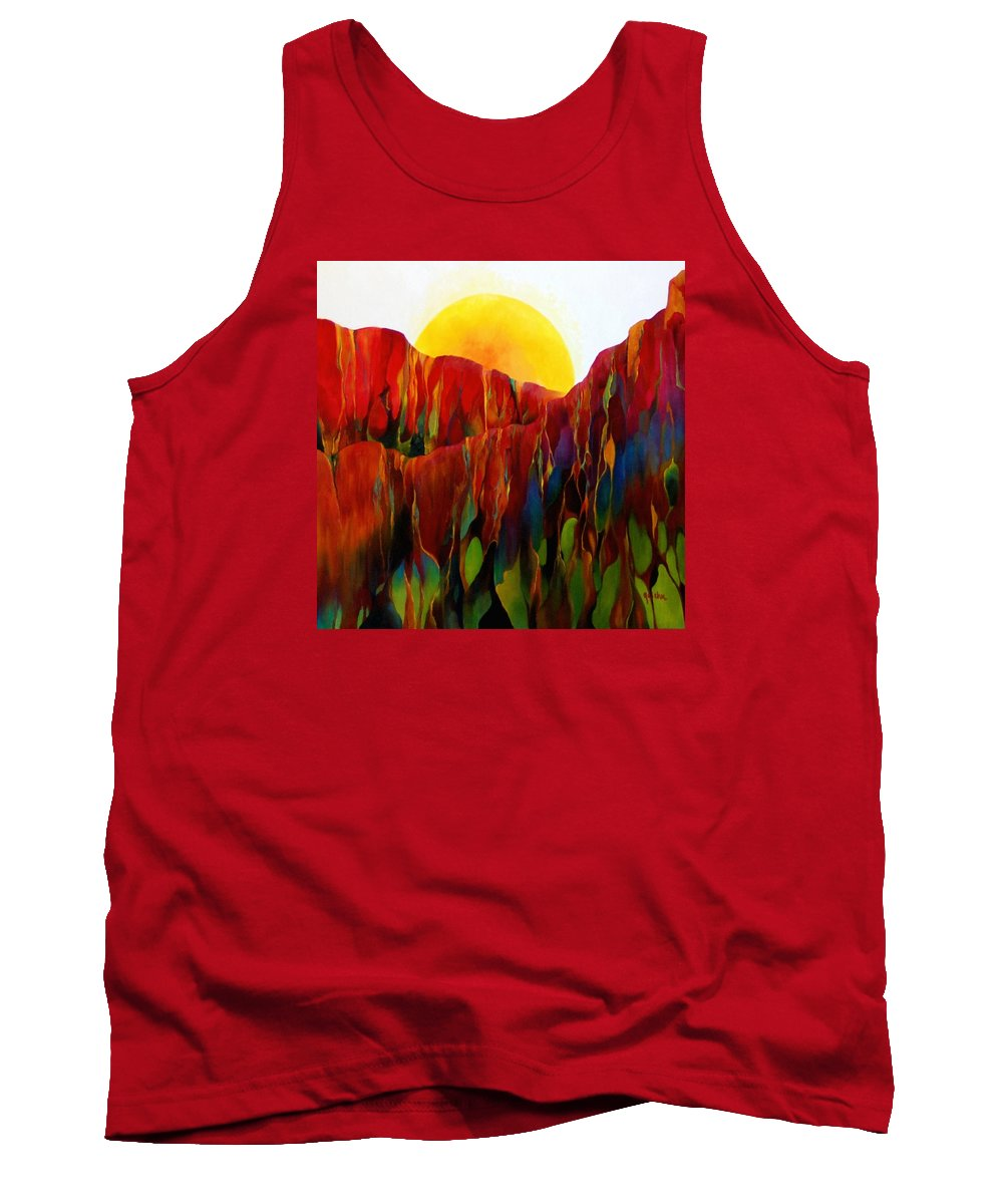 Oil Tank Top featuring the painting Living Earth by Peggy Guichu
