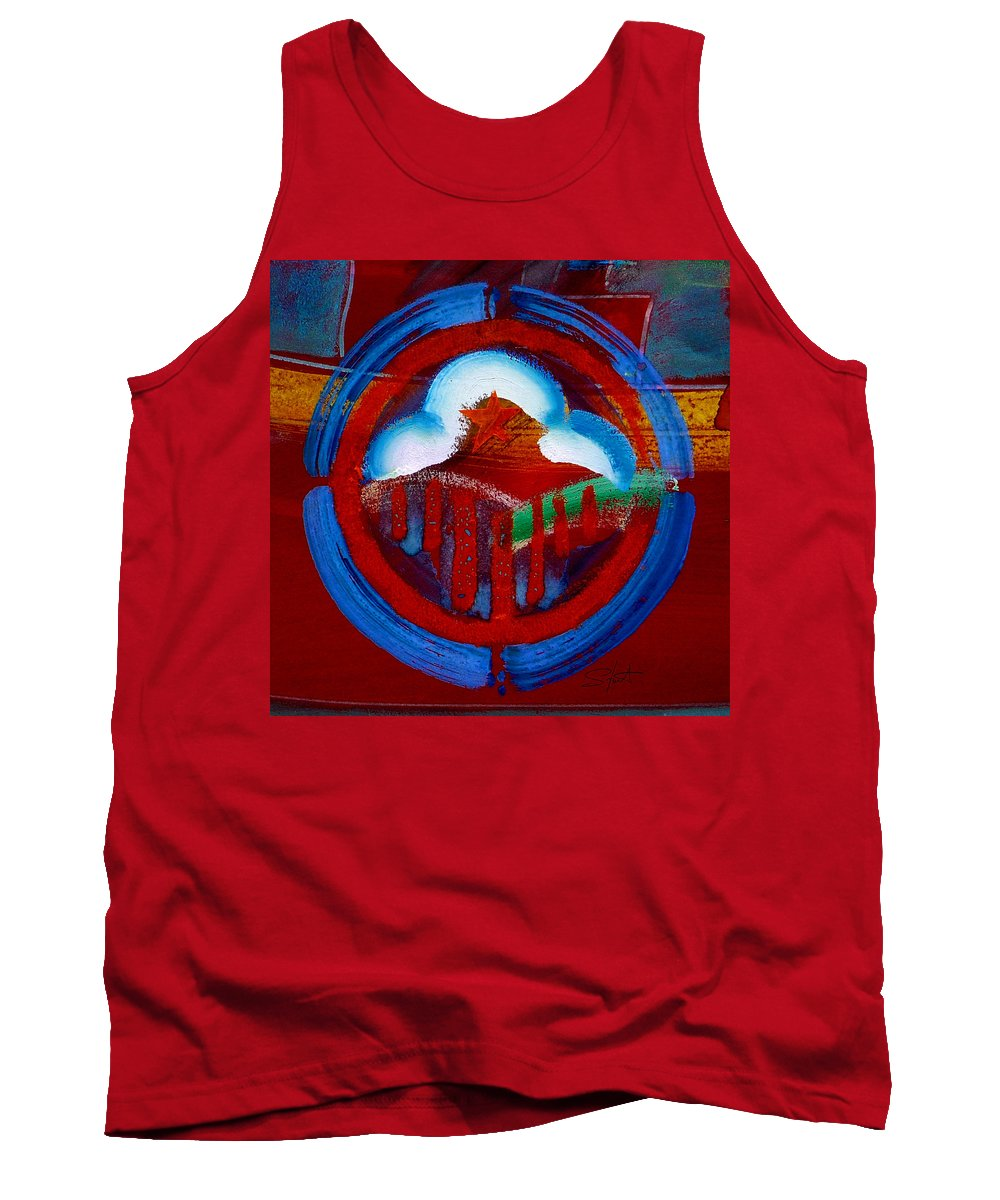Star Tank Top featuring the painting Lone Star State by Charles Stuart