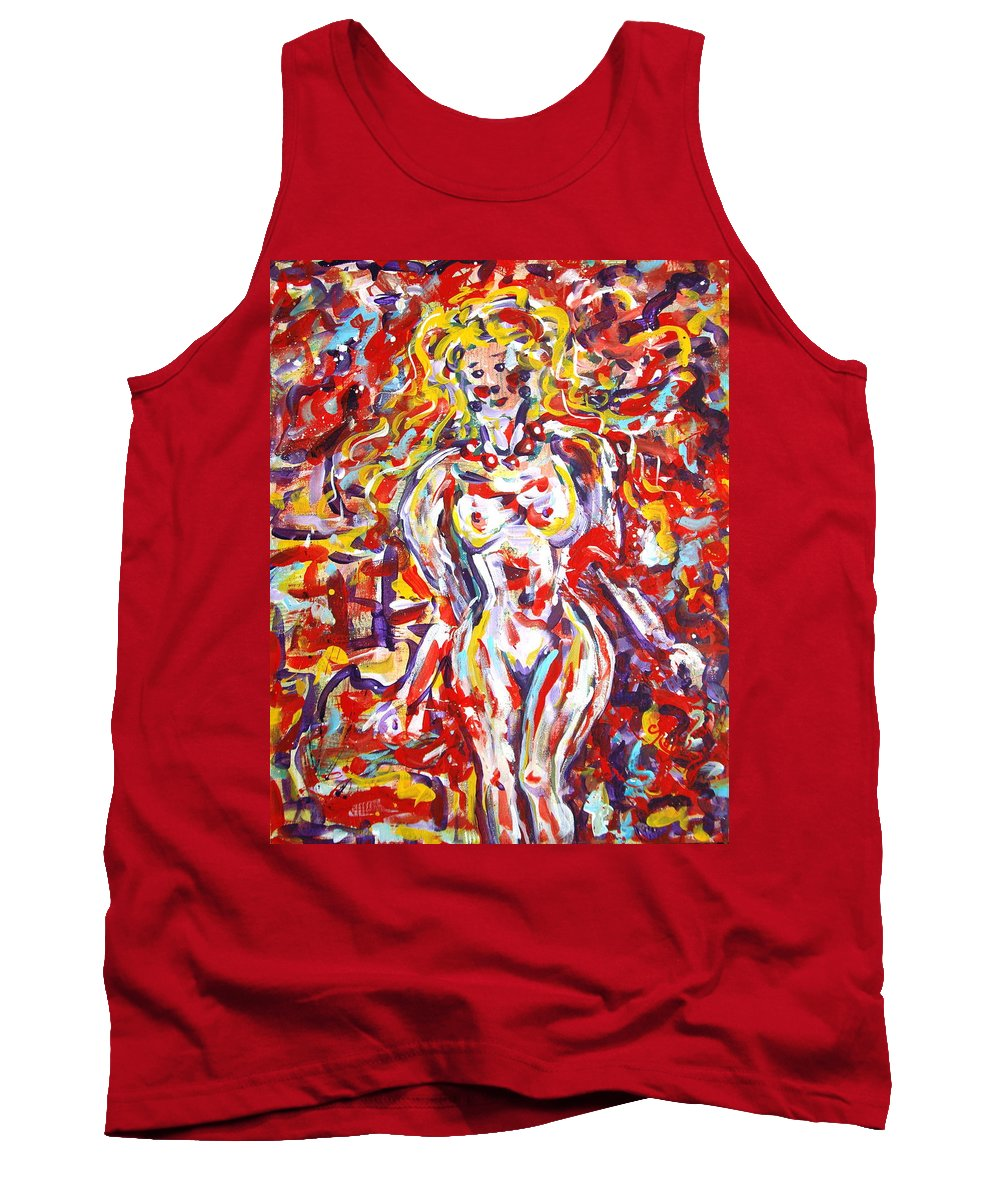 Expressionism Tank Top featuring the painting Longing For You by Natalie Holland