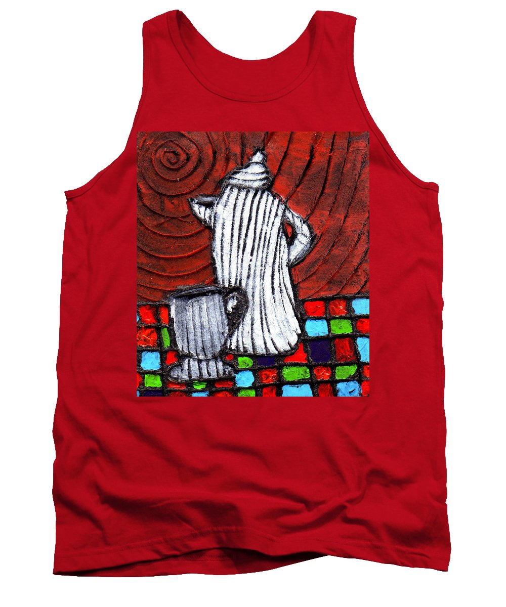 Tea Tank Top featuring the painting Looking For Something Hot by Wayne Potrafka
