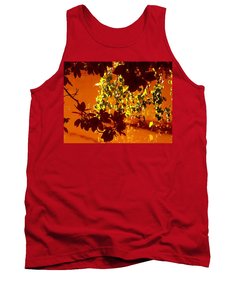 Landscapes Tank Top featuring the painting Looking Through Leaves Into Pond by Amy Vangsgard