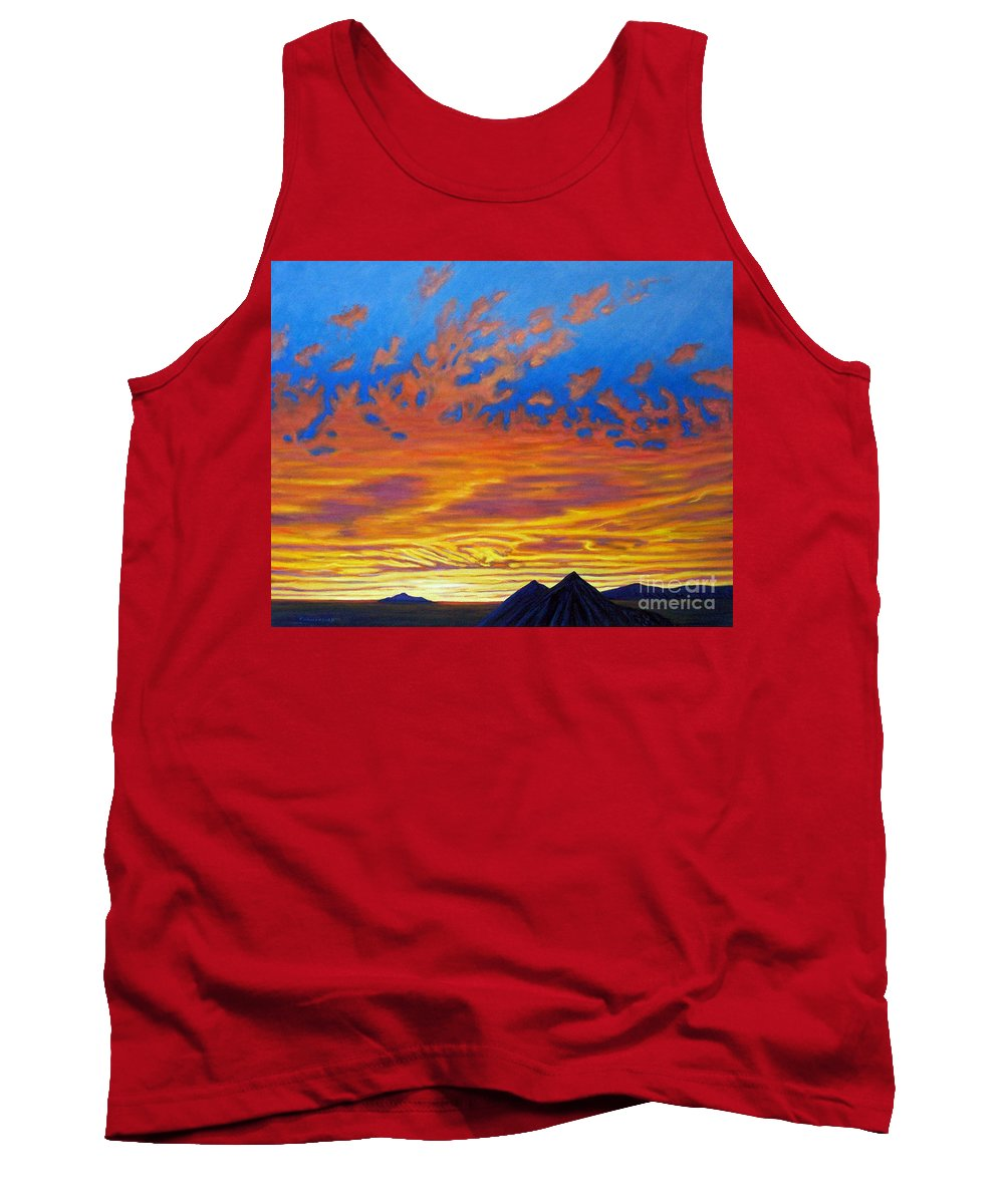 Landscape Tank Top featuring the painting Looking To The Southwest by Brian Commerford