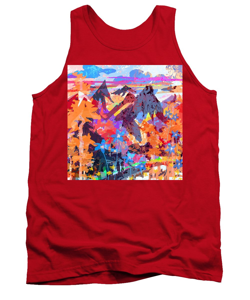 Abstract Tank Top featuring the digital art Lost In Colorado by Rachel Christine Nowicki