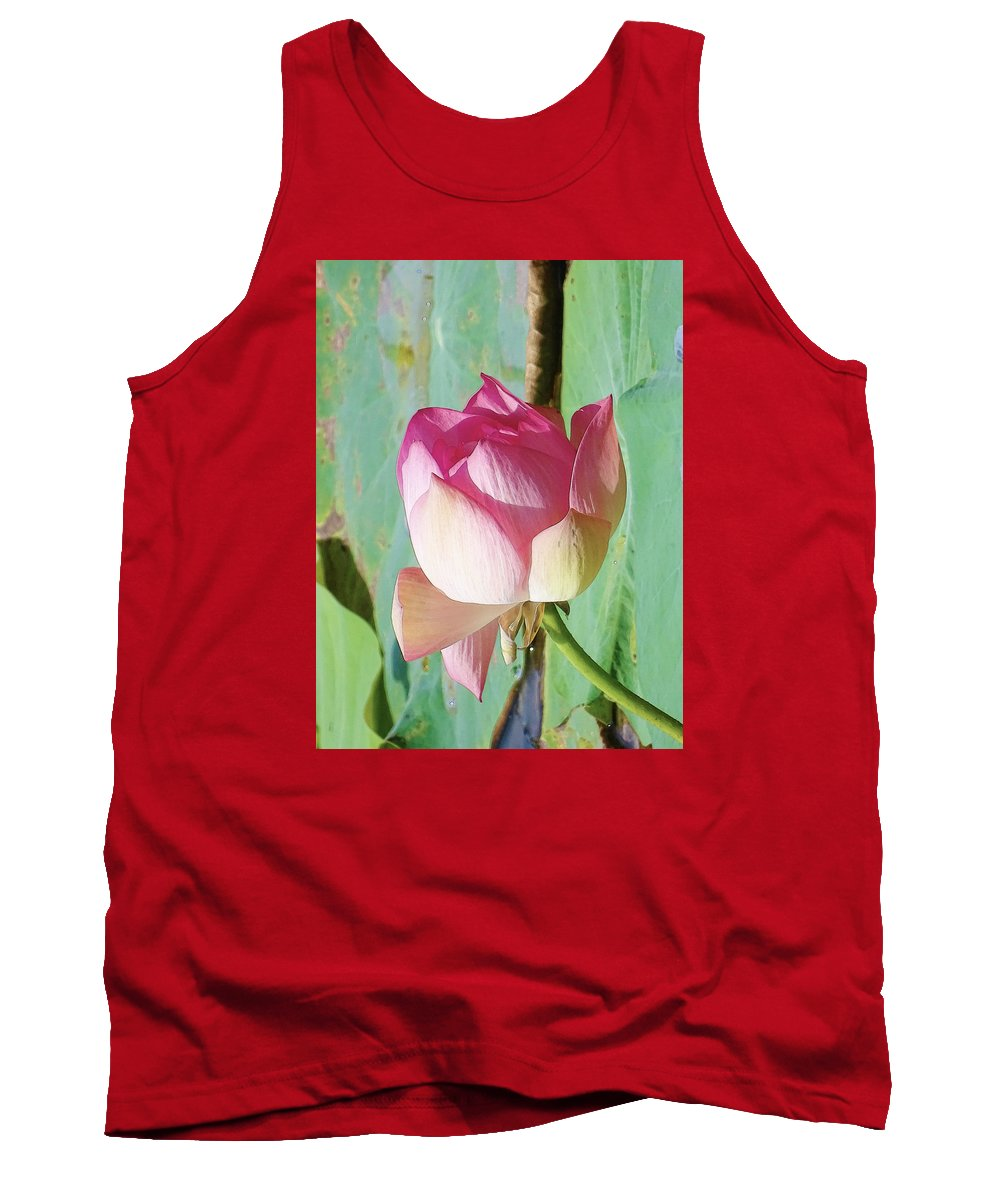 Nature Tank Top featuring the pyrography Lotus by Artistic Panda