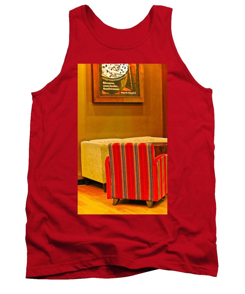 Tank Top featuring the photograph Lounge by Charuhas Images