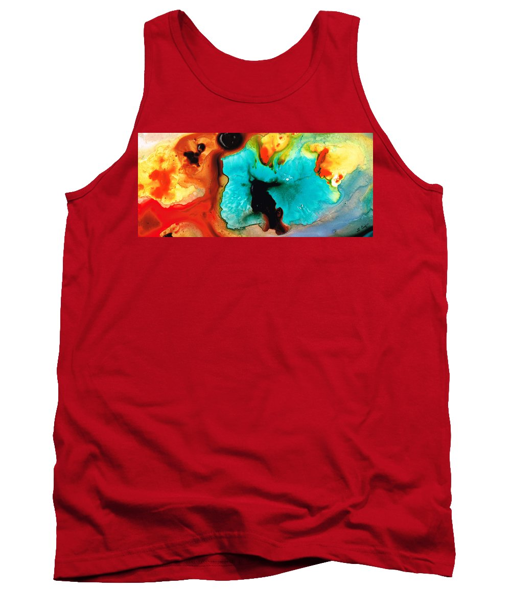 Abstract Art Tank Top featuring the painting Love And Approval by Sharon Cummings