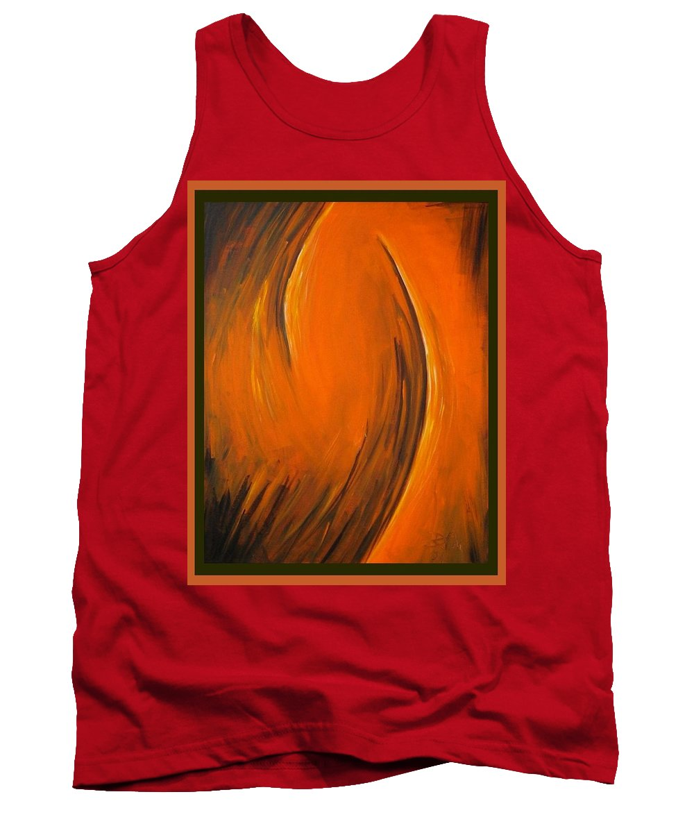 Abstraction Tank Top featuring the painting Love by Dragica Micki Fortuna
