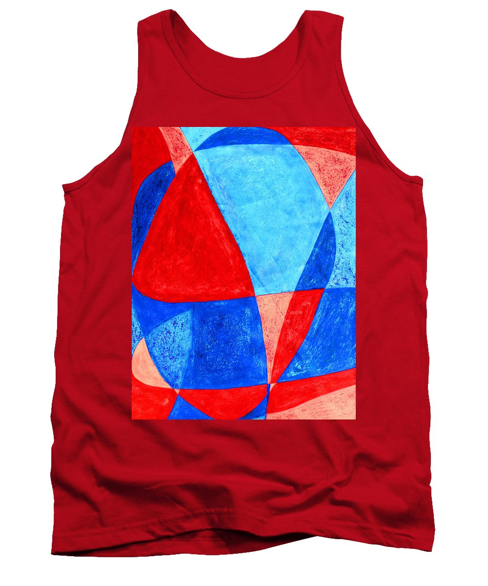 Abstract Tank Top featuring the painting Love In Abstract Word Art by Lee Serenethos