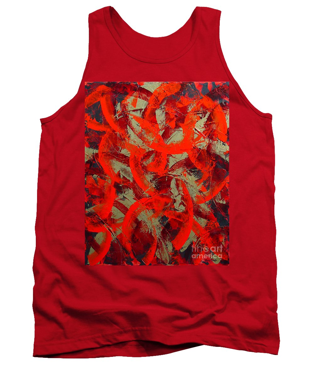 Abstract Tank Top featuring the painting Love Trails by Dean Triolo