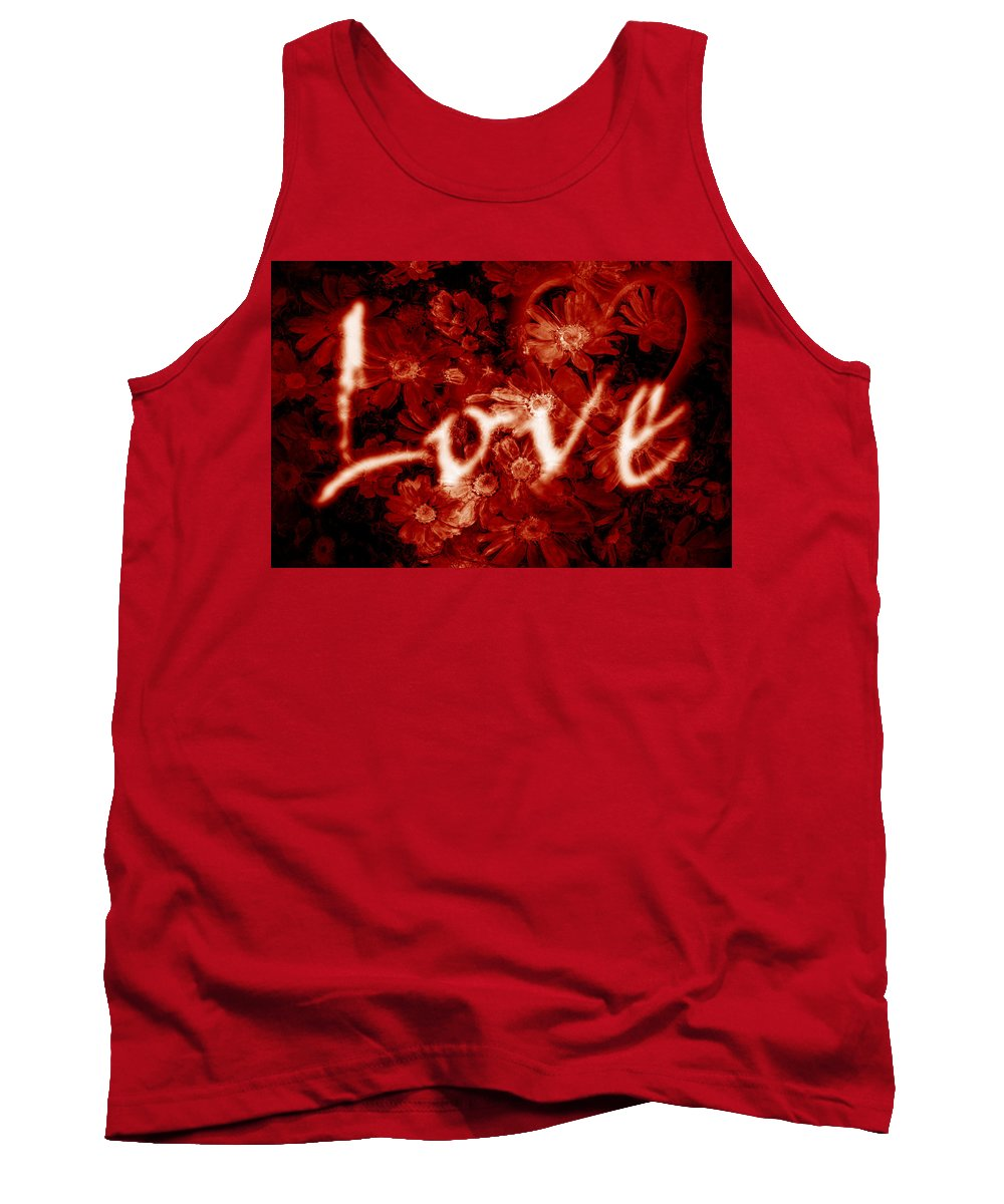 Love Tank Top featuring the photograph Love With Flowers by Phill Petrovic