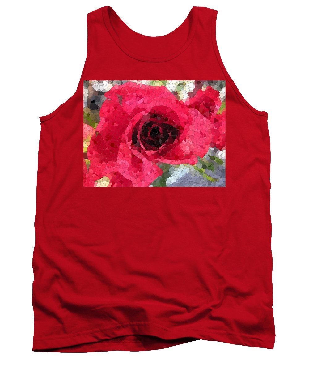Rose Tank Top featuring the digital art Love You by Tim Allen