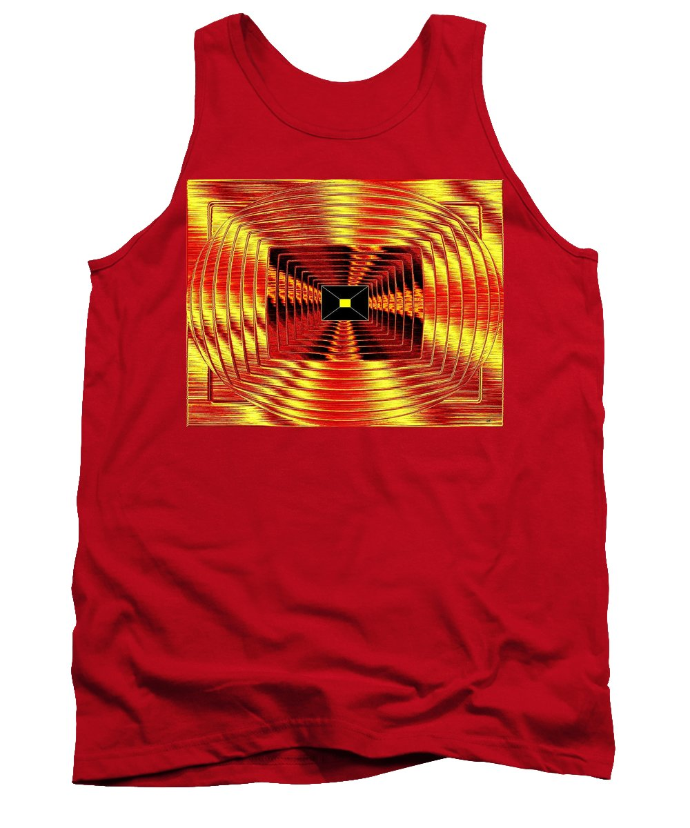 Abstract Tank Top featuring the digital art Luminous Energy 12 by Will Borden