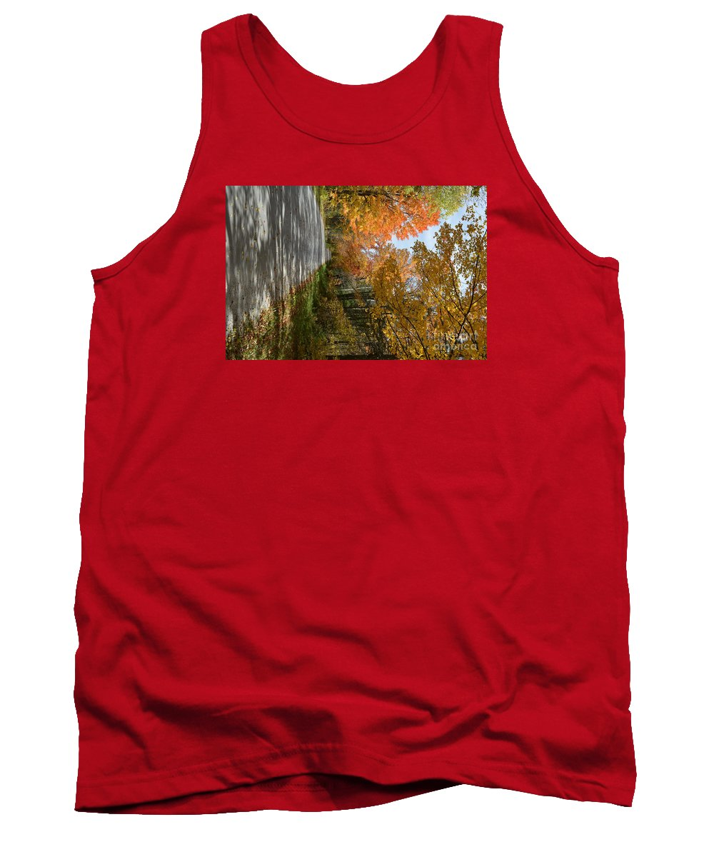 Vermont Tank Top featuring the photograph Mack's Mountain Road by George Scheller