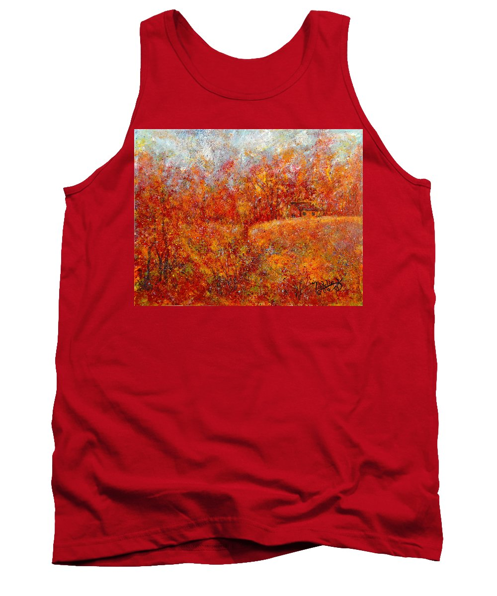 Autumn Tank Top featuring the painting Majestic Autumn by Natalie Holland