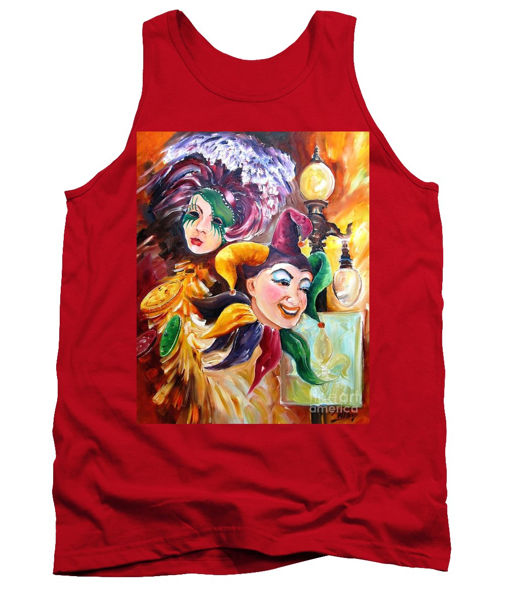 New Orleans Tank Top featuring the painting Mardi Gras Images by Diane Millsap