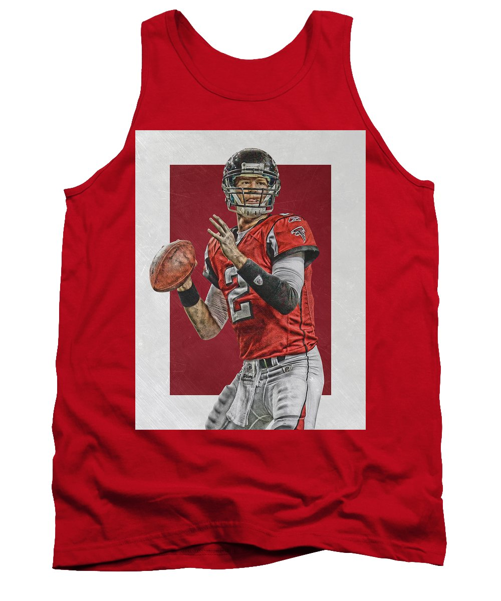Matt Ryan Tank Top featuring the mixed media Matt Ryan Atlanta Falcons Art by Joe Hamilton