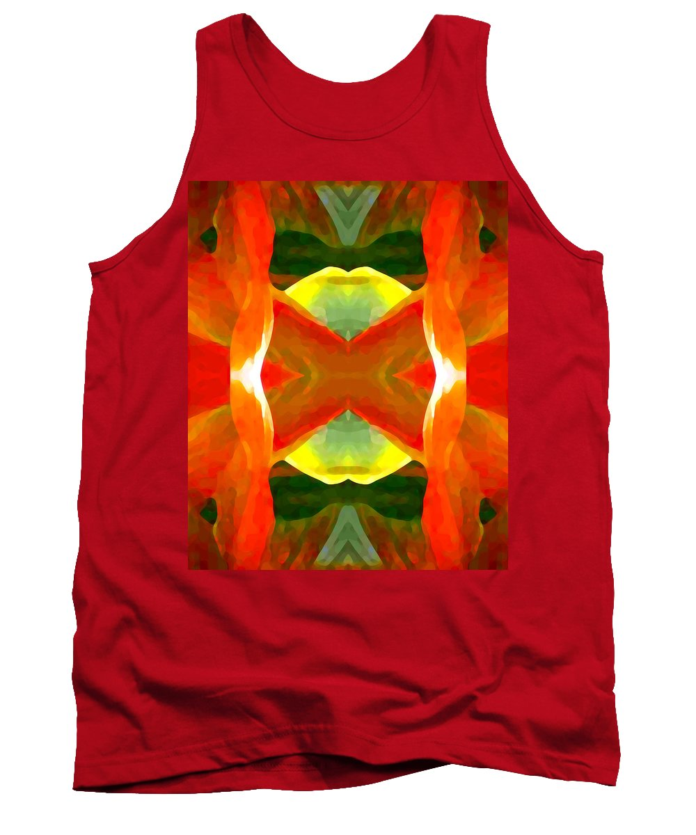 Abstract Tank Top featuring the painting Meditation by Amy Vangsgard