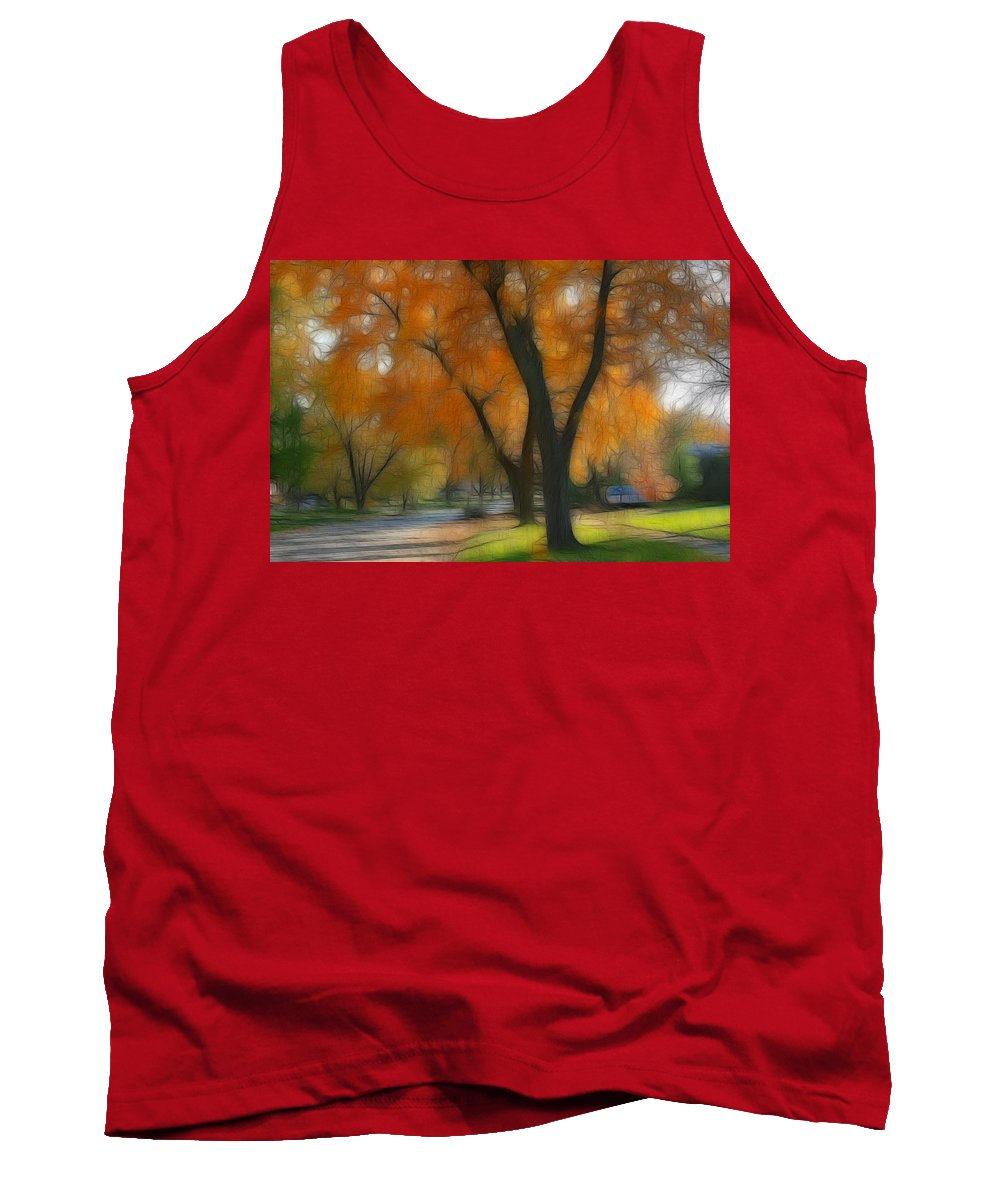 Autumn Tank Top featuring the photograph Memory Of An Autumn Day by Lyle Hatch