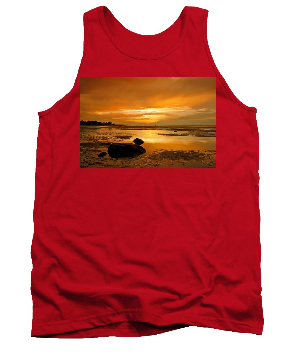 Mill Way Tank Top featuring the photograph Mill Way Beach Sunset by Charles Harden