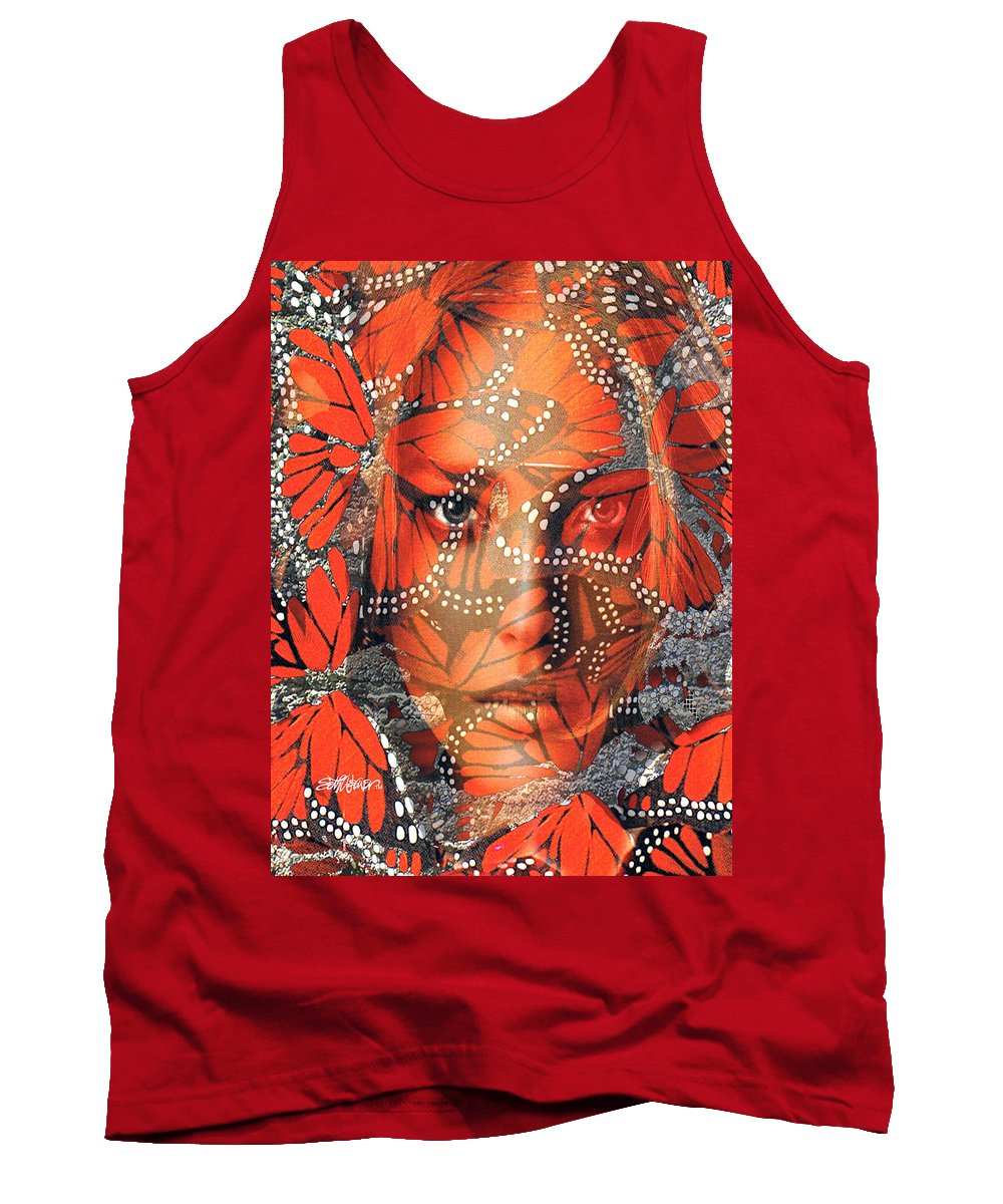 Butterfly Tank Top featuring the digital art Monarch Moment by Seth Weaver