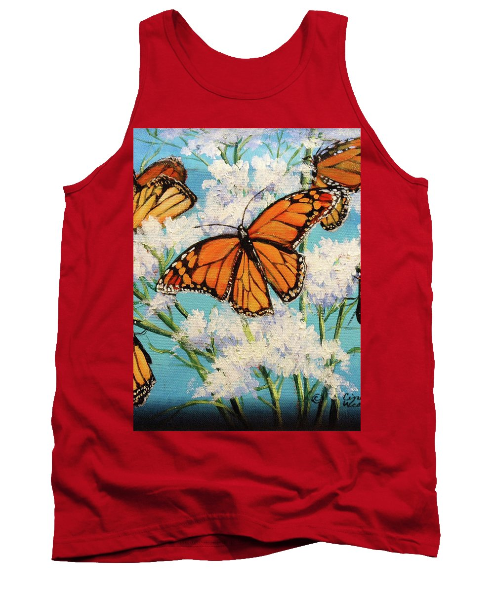 Artwork Tank Top featuring the painting Monarchs by Cynthia Westbrook