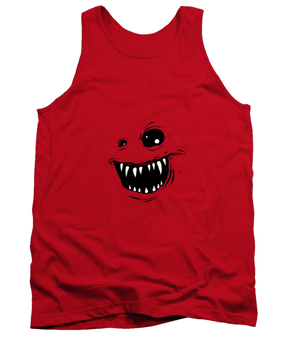 Face Tank Top featuring the drawing Monty by Nicholas Ely