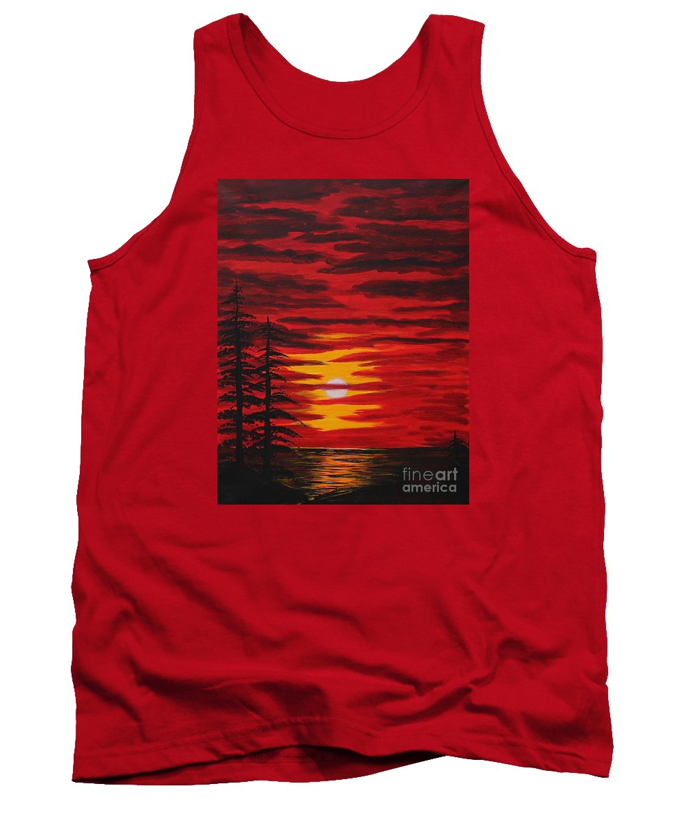Barbara Griffin Tank Top featuring the painting Morning Sky by Barbara Griffin