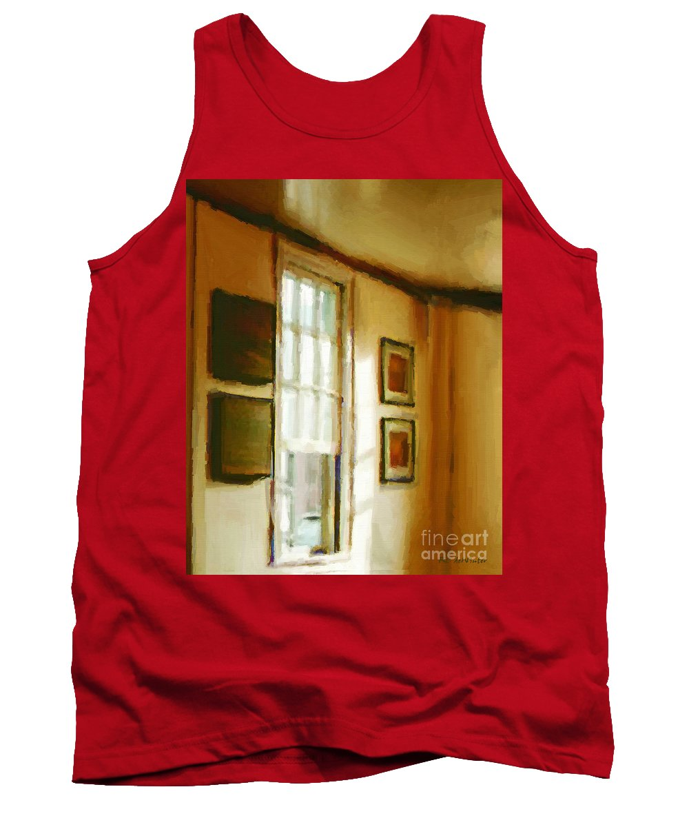 France Tank Top featuring the painting Morning Sun - Paris by RC DeWinter
