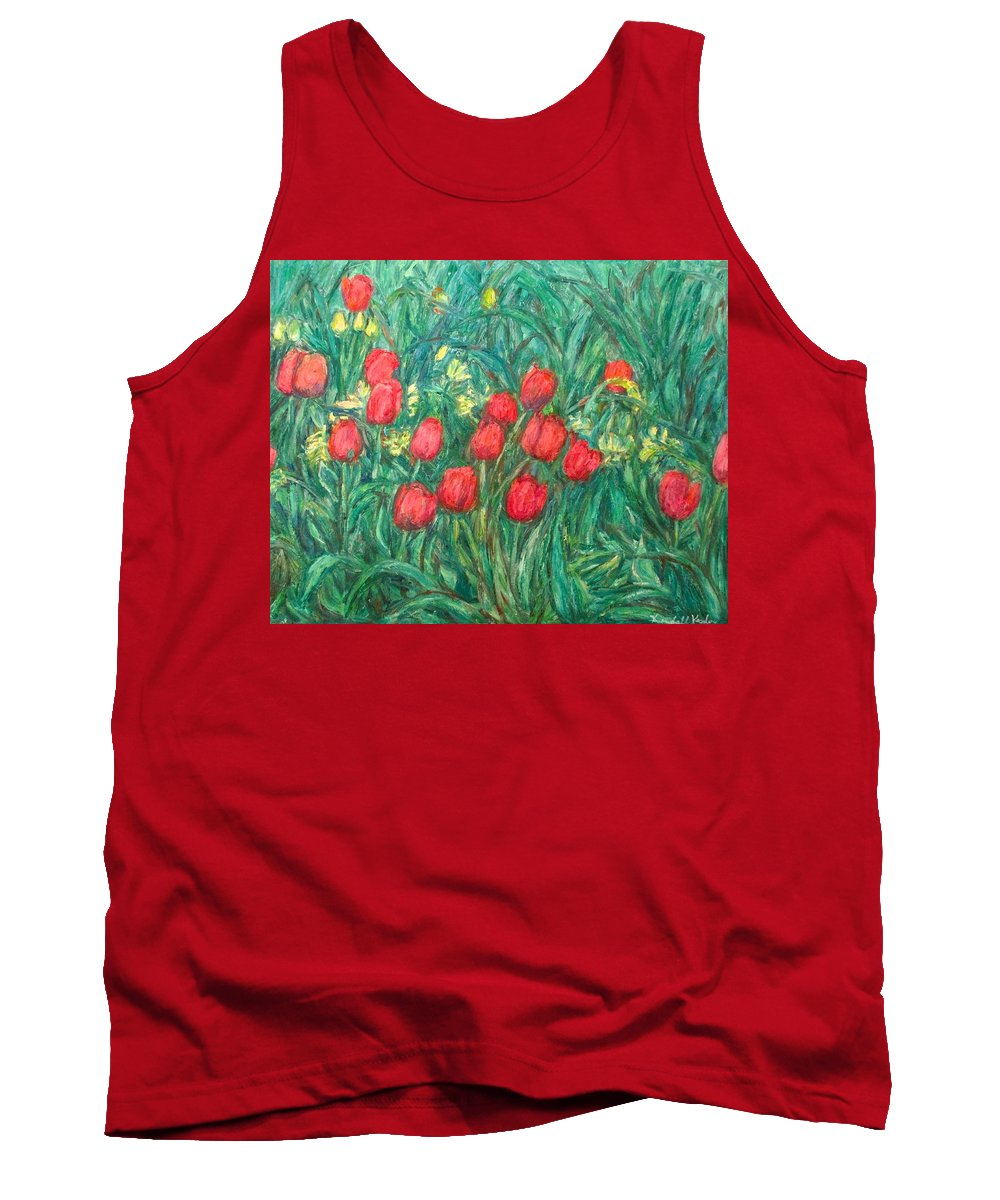 Kendall Kessler Tank Top featuring the painting Mostly Tulips by Kendall Kessler