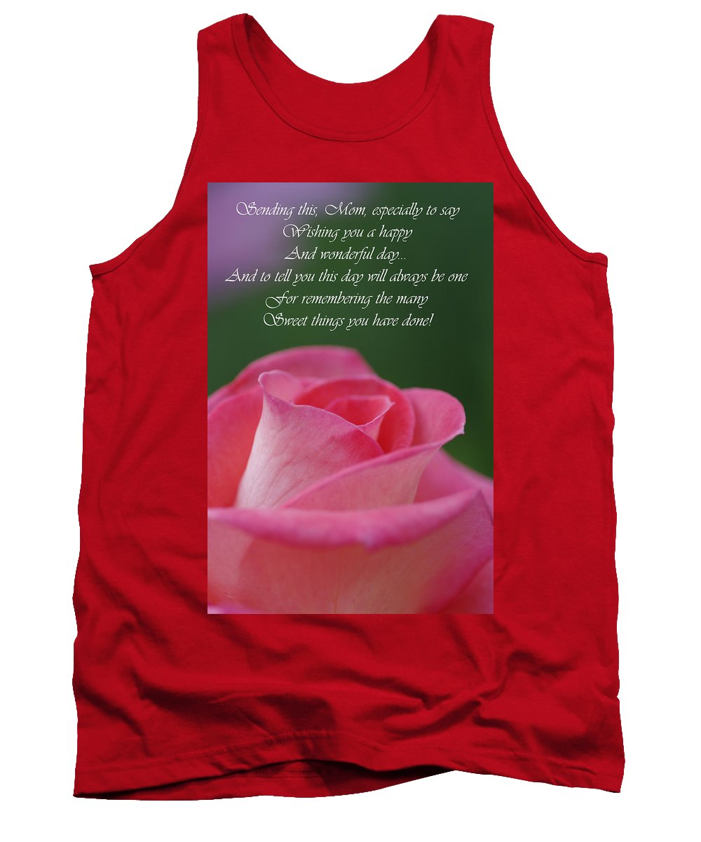 Cards Tank Top featuring the photograph Mother's Day Card 3 by Michael Cummings