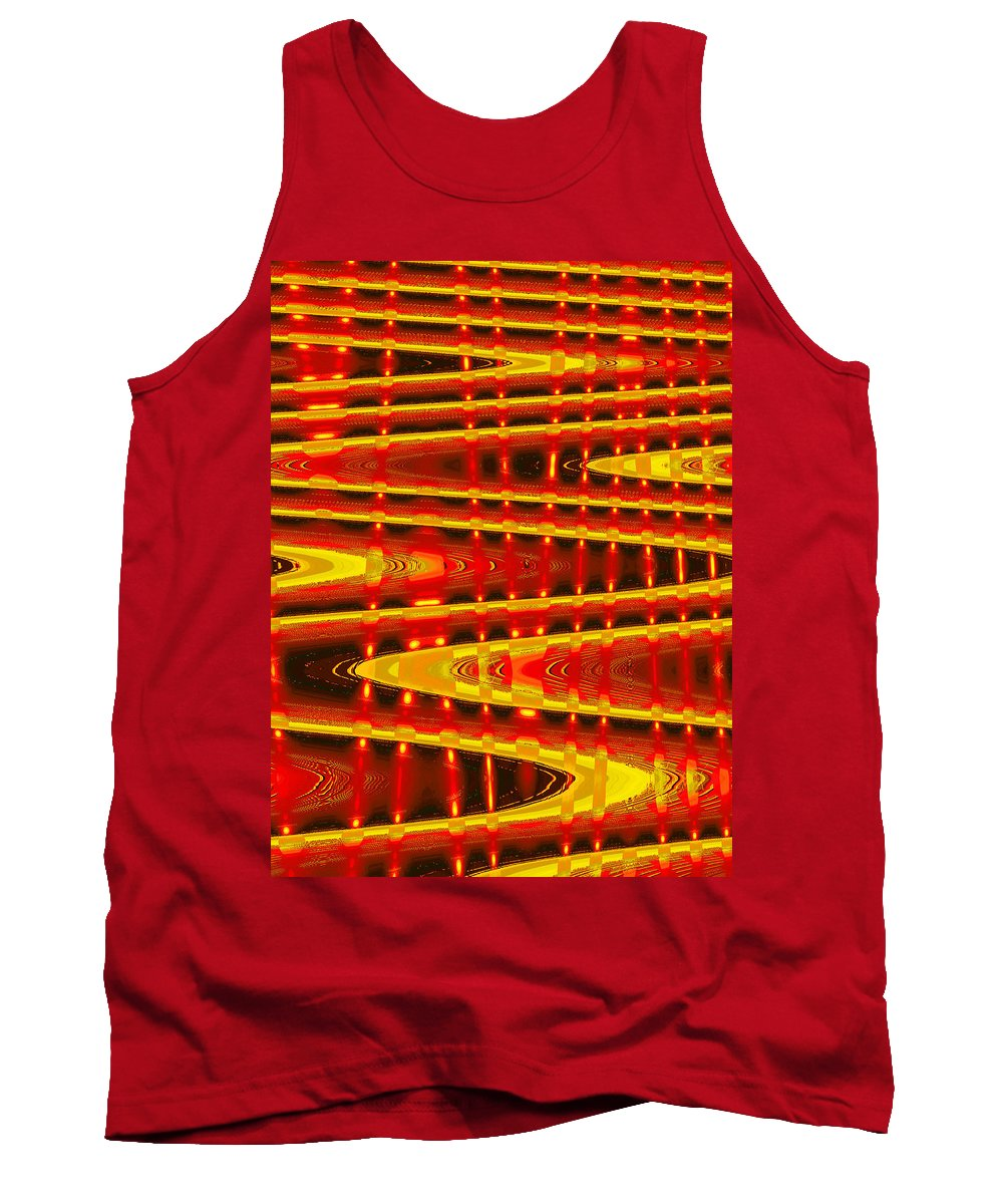 Moveonart! Digital Gallery Tank Top featuring the digital art Moveonart Abstract Waves And Light Five by Jacob Kanduch