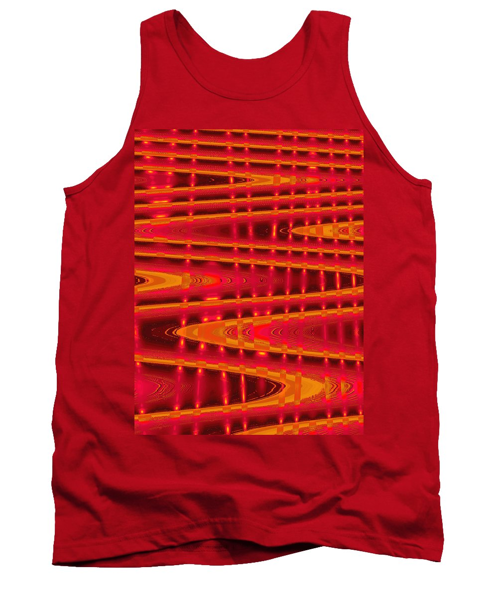 Moveonart! Digital Gallery Tank Top featuring the digital art Moveonart Abstract Waves And Light Four by Jacob Kanduch