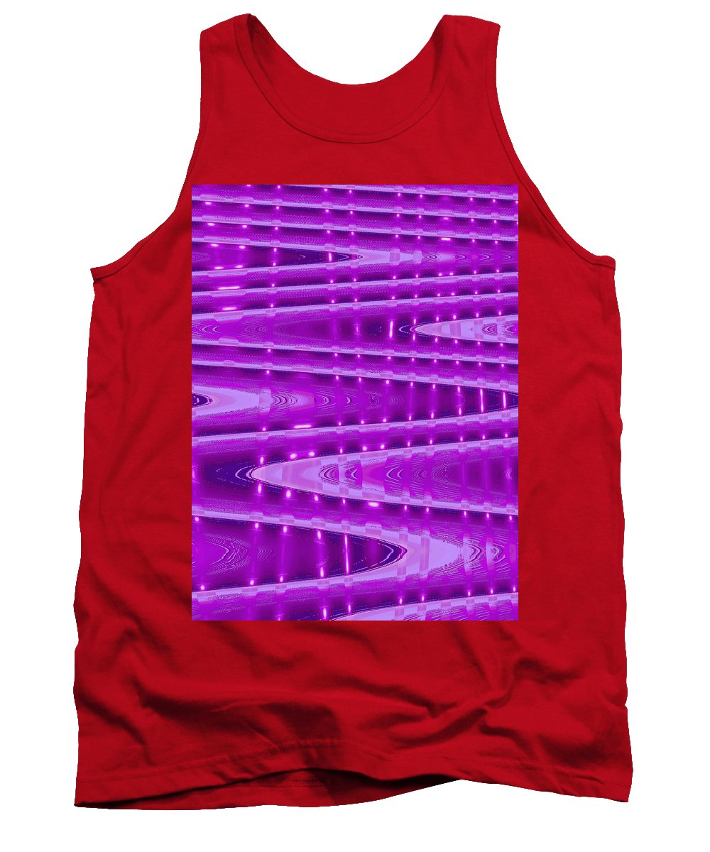Moveonart! Digital Gallery Tank Top featuring the digital art Moveonart Abstract Waves And Light II by Jacob Kanduch