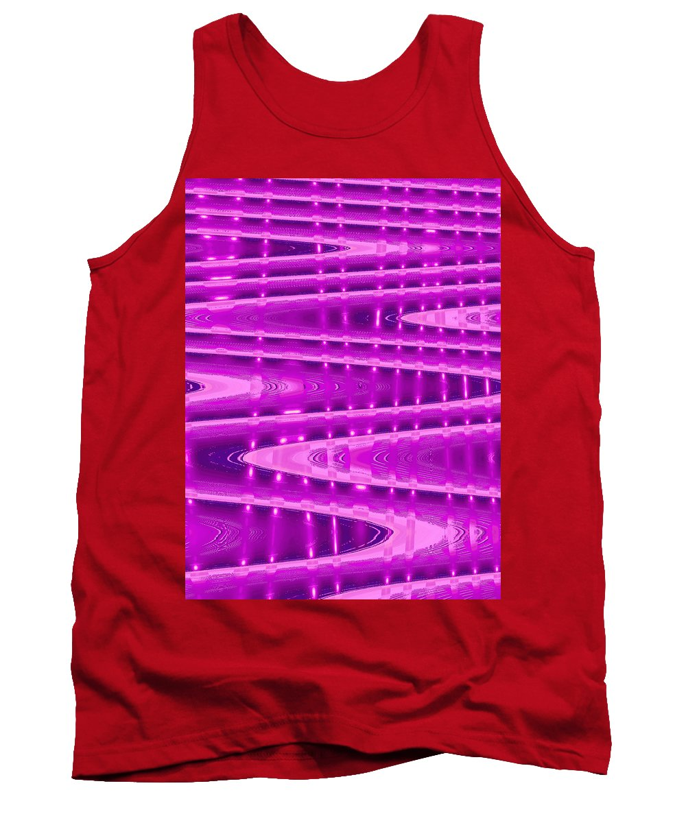 Moveonart! Digital Gallery Tank Top featuring the digital art Moveonart Abstract Waves And Light Six by Jacob Kanduch