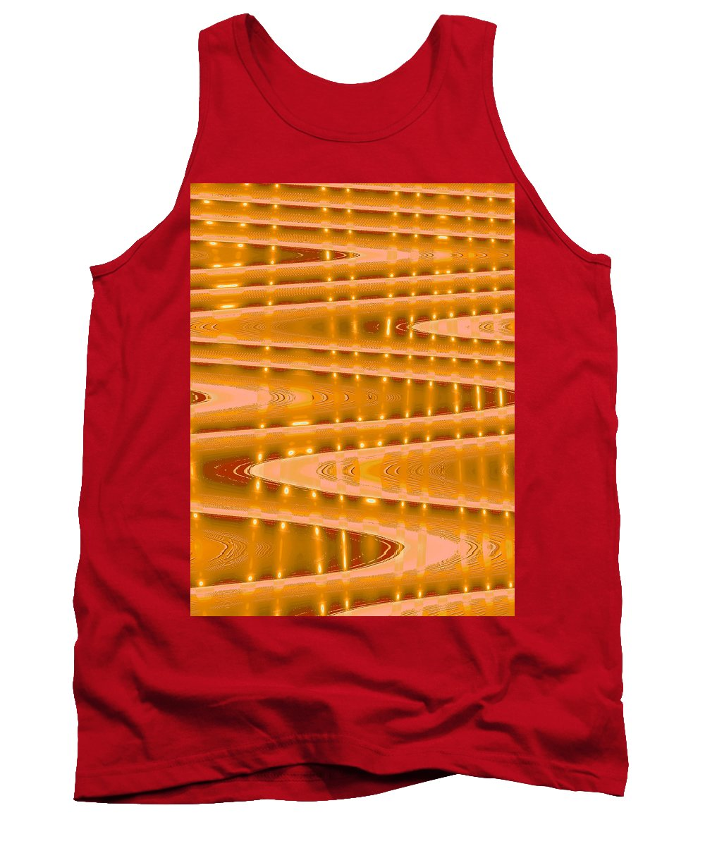 Moveonart! Digital Gallery Tank Top featuring the digital art Moveonart Abstract Waves And Light Three by Jacob Kanduch