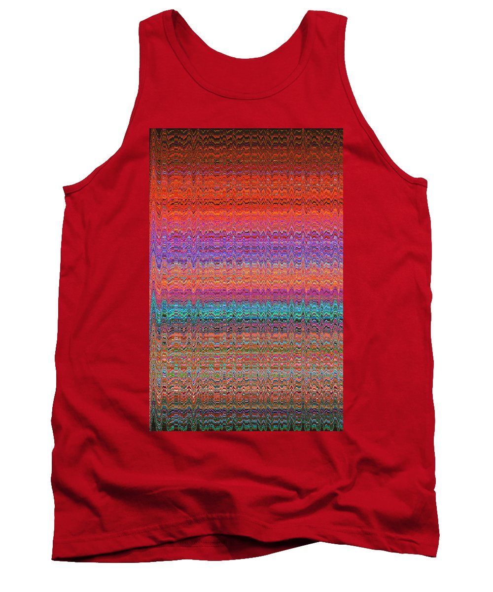 Moveonart! Digital Gallery Tank Top featuring the digital art Moveonart Future Indian Voice Wave Quilt by Jacob Kanduch