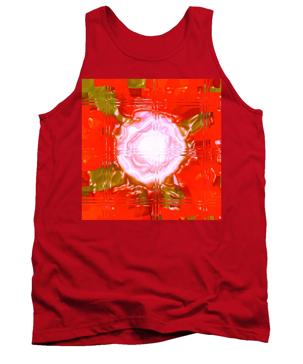 Moveonart! Digital Gallery Tank Top featuring the digital art Moveonart Light Saturation With Red by Jacob Kanduch